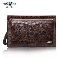 yuanyu New men crocodile clutches real  leather hand bag high-end imported high-capacity  bag big men clutches
