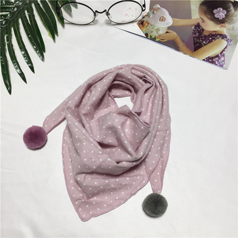 Spring Baby Girls Dot Plaid Triangle Scarves Autumn Winter Boys Girls Shawl Children Cotton Neck Collars Warm Kids Neckerchief