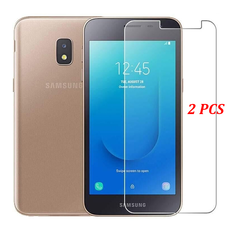 2Pcs Glass for Samsung J2 Core Tempered Glass J2 Pro 2018 Screen Protector 2.5D Full Transparent Film for Galaxy J2 Core 2018
