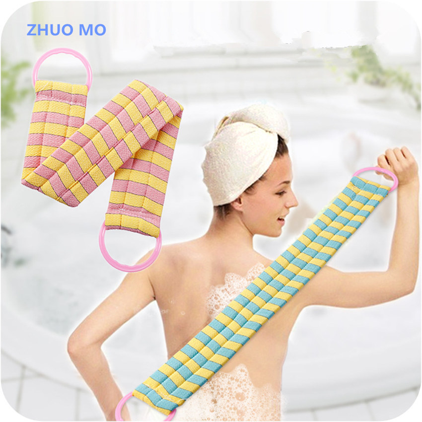 2pcs New Arrival Long thick bath sponge Pull Back Strap rubbing back massage Massage Sponge bathroom Shower articles bath Towel