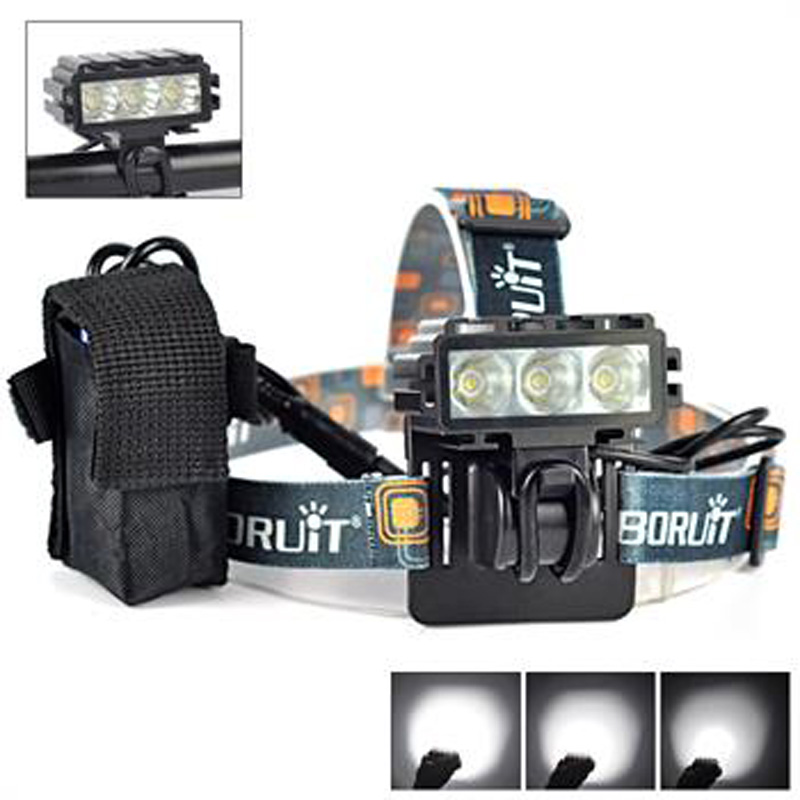 где купить 6000Lm 3X XM-L L2 LED Display Front Cycling Bicycle Head Light Bike Lamp 5-Modes дешево