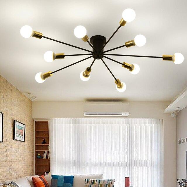 Lámpara de techo para comedor, barra café, sala estar, lámpara techo, araña  hierro pintada, luz nórdica, Ecolight envío gratis