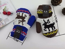 GLV954 children s cartoon warm winter font b gloves b font Knitted neck woolen font b