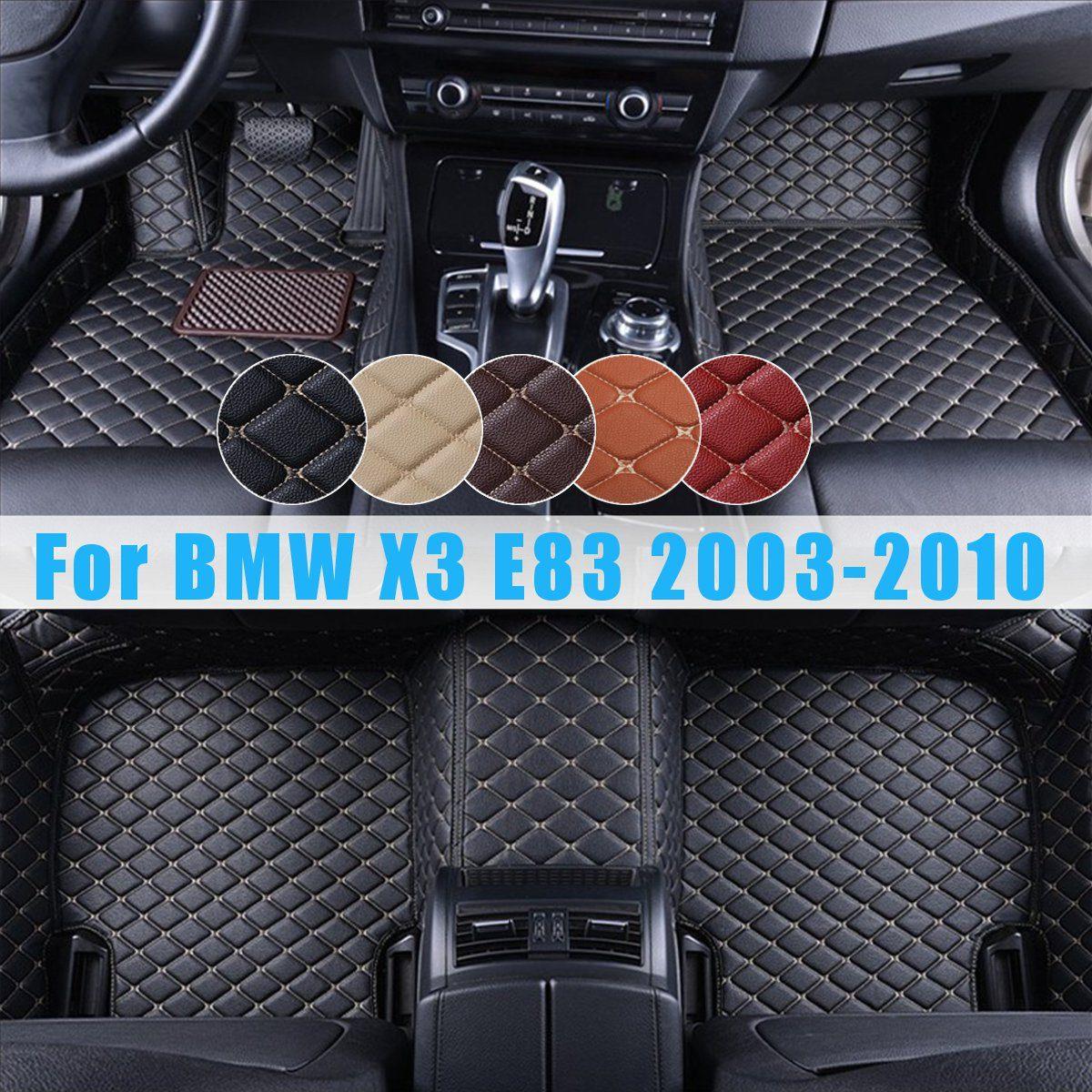 Flash tapis en cuir voiture tapis de sol universel Auto tapis FloorLiner gauche conduite Premium pied Pad pour BMW X3 E83 2003 2004-2010