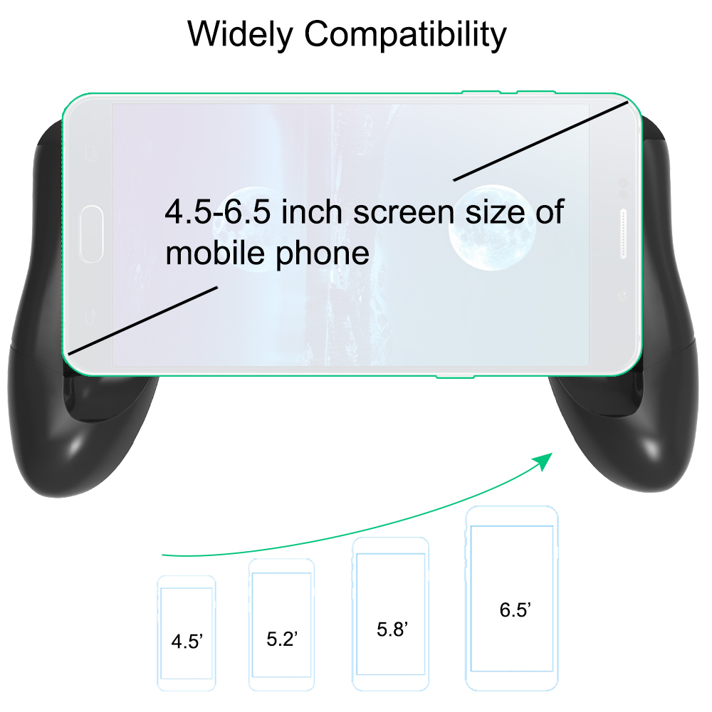 XMXCZKJ Game Controller Phone Clip Holder Clamp Mount Stand Easy Use For Phone Game Grip Handle Bracket Mobile Phone Desk Stand