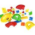 Crazy fun pelota rodando bloques de construcción partes accesorios compatibles con duploe diy juguetes