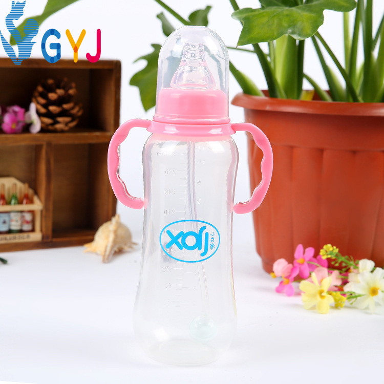 baby feeding bottles handle cover standard straw bady water milk bottle baby nibbler bottles plastic cups with handles infant