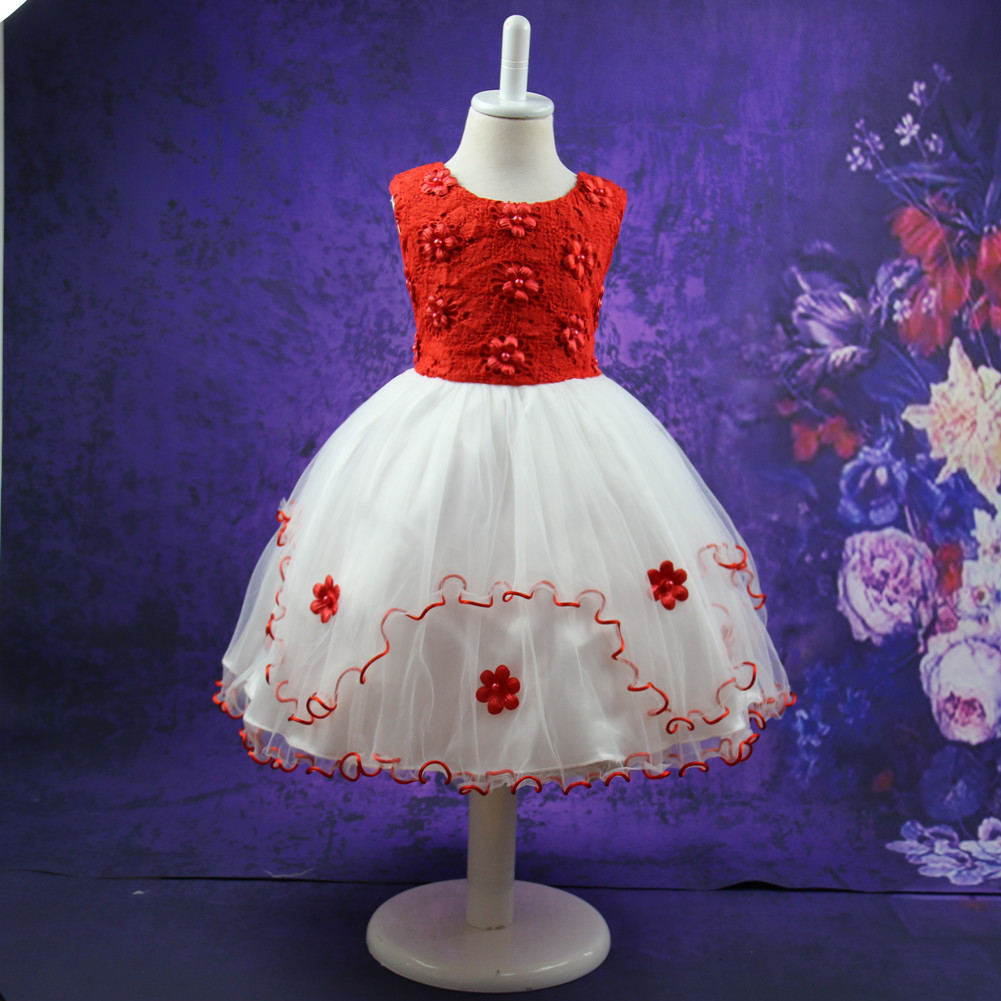 2019 Summer Clothes Princess Birthday Party Girls Dress Flower Jacobs Children Performance 2 3 4