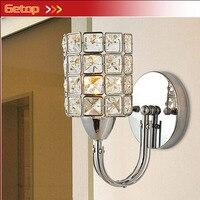 Lámpara LED de pared moderna plateada K9 Crystal E14 para sala de Estar  comedor  dormitorio  pasillo de cabecera