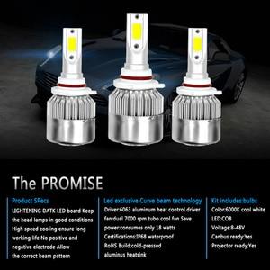 Image 2 - 2PCS C6 ชุดไฟหน้ารถLed LED H4 LED H7 H11 H13 H1 H3 9004 880 9005 9006 6000K 72W 8000LM Hi/Lo Beam Turbo Light