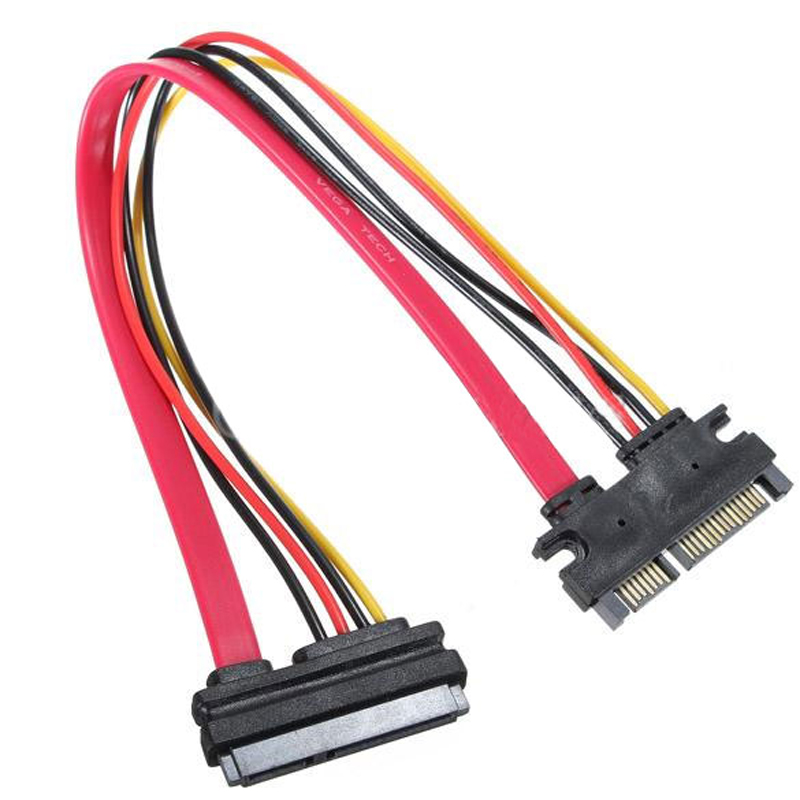 UN2F 22 Pin Male to Female 7+15 pin SATA Data Power Combo Extension Cable 45CM Best Price