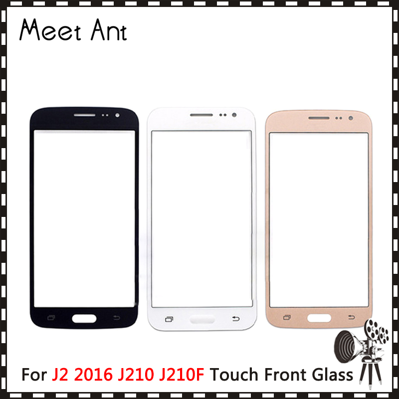 10Pcslot For Samsung galaxy J2 2016 J210 J210F Front Outer Glass Lens Touch Screen Panel