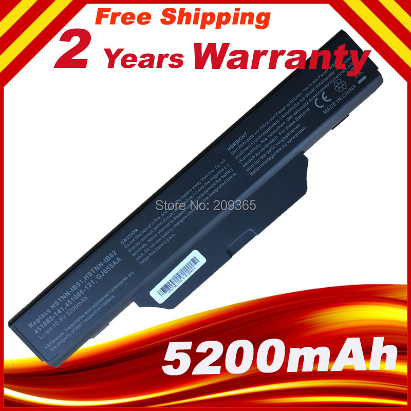 New battery For <font><b>HP</b></font> 6720s 6730s 6735s <font><b>6820s</b></font> 6830s 451085-141 451086-121 451086-161 451568-001 GJ655AA HSTNN-IB51 HSTNN-IB52 image
