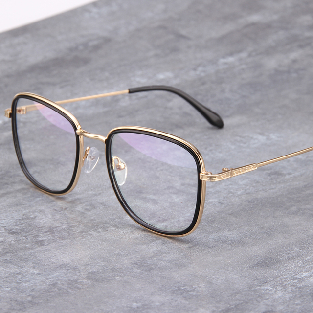 8bbe65092f8 Gold wood glasses frames clear lens glasses eye glasses for women mens  eyewear prescription designer frames Retro Round 696