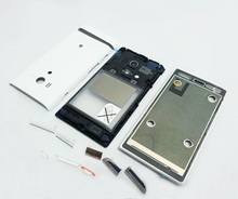 Original full housing for Sony Xperia Acro S LT26w complete battery cover back case +middle bezel frame + faceplate