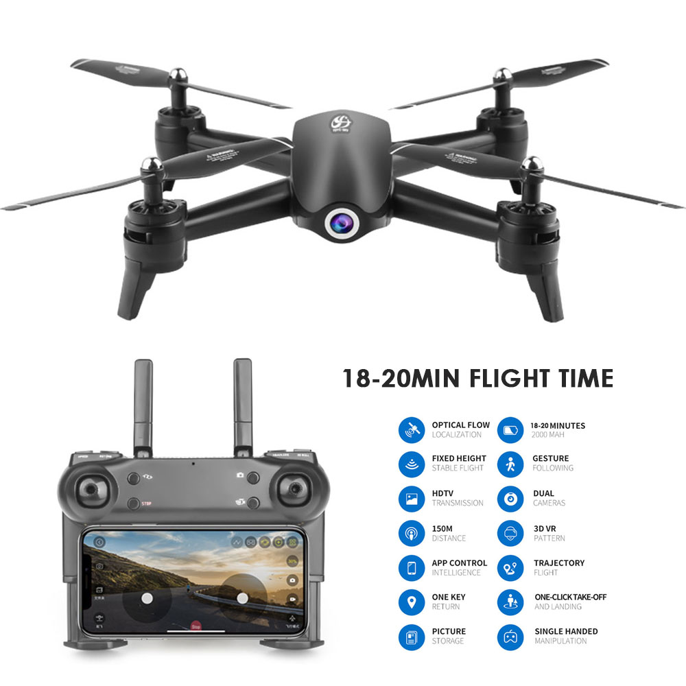 S165 RC Drone 2.4Ghz WIFI FPV 720P/1080P/2K HD Dual Camera 20 Minutes Flight time Headless Mode RC Helicopter Quadcopter image