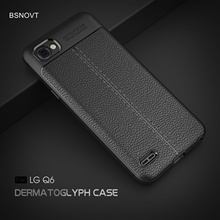 For LG Q6 Case Plus Soft PU Leather Shockproof Bumper Cover X600 X600K 5.5 BSNOVT