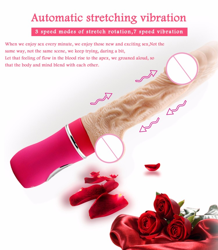 18 Speed Automatic Dildo Vibrator Rechargable Retractable Pumping Gun Sex Machine Realistic Dildos for Women Adult Sex Products 12