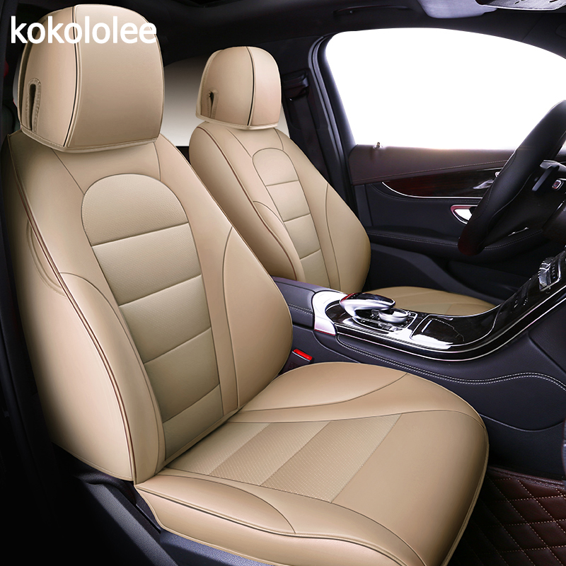 Kokololee Custom Real Leather Car Seat Cover For JEEP Grand Cherokee Compass Wrangler Patriot Cherokee Automobiles Seat Covers