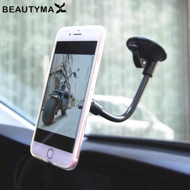 Parabrisas del coche magnética titular de teléfono fuerte soporte imán del coche titular mano libre pantalla giratoria del coche accesorios de