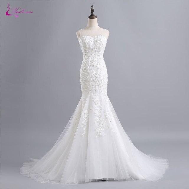 Waulizane Romantische Schatz nixe Hochzeitskleider Brilliant Perlen ...