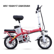 Mini Bike Folding Electric Bike 14inch Wheel 240W Motor E Bike Electric Bicycle Scooter 48V 15AH/17.5AH/20AH Lithium Battery купить недорого в Москве