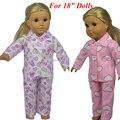 Nuevo estilo Popular 18 pulgadas AMERICAN PRINCESS ropa muñecas / muñeca ropa para 18 pulgadas dolls pijamas doll accesorios 1 unids