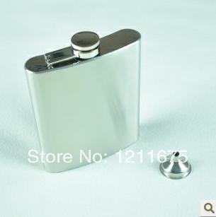 Free Shipping+18oz Stainless Steel Hot Selling Hip Flask Pocket Bottle for Whiskey Liquor with Funnel