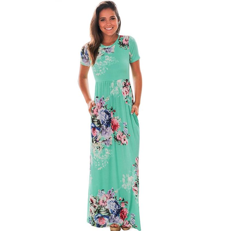31fa63e382639 US $8.99 30% OFF|Wuhaobo Bohemian Maxi Dress Spring Summer Floral Print  Elegant Party Beach Boho Long Dresses Women Robe Femme vestidos plus  size-in ...