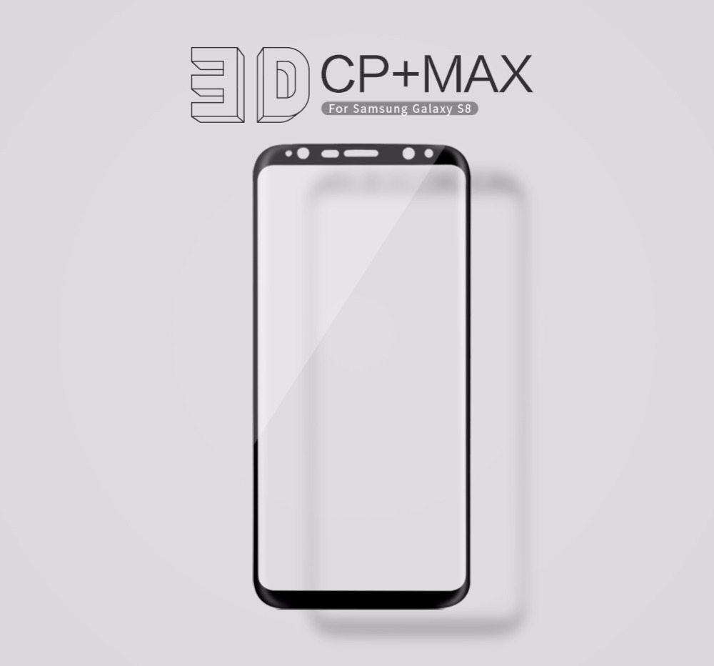 NILLKIN Amazing 3D CP + MAX Full dekning Nanometer Anti-eksplosjon 9H herdet glass skjermbeskytter for Samsung Galaxy S8 Glass