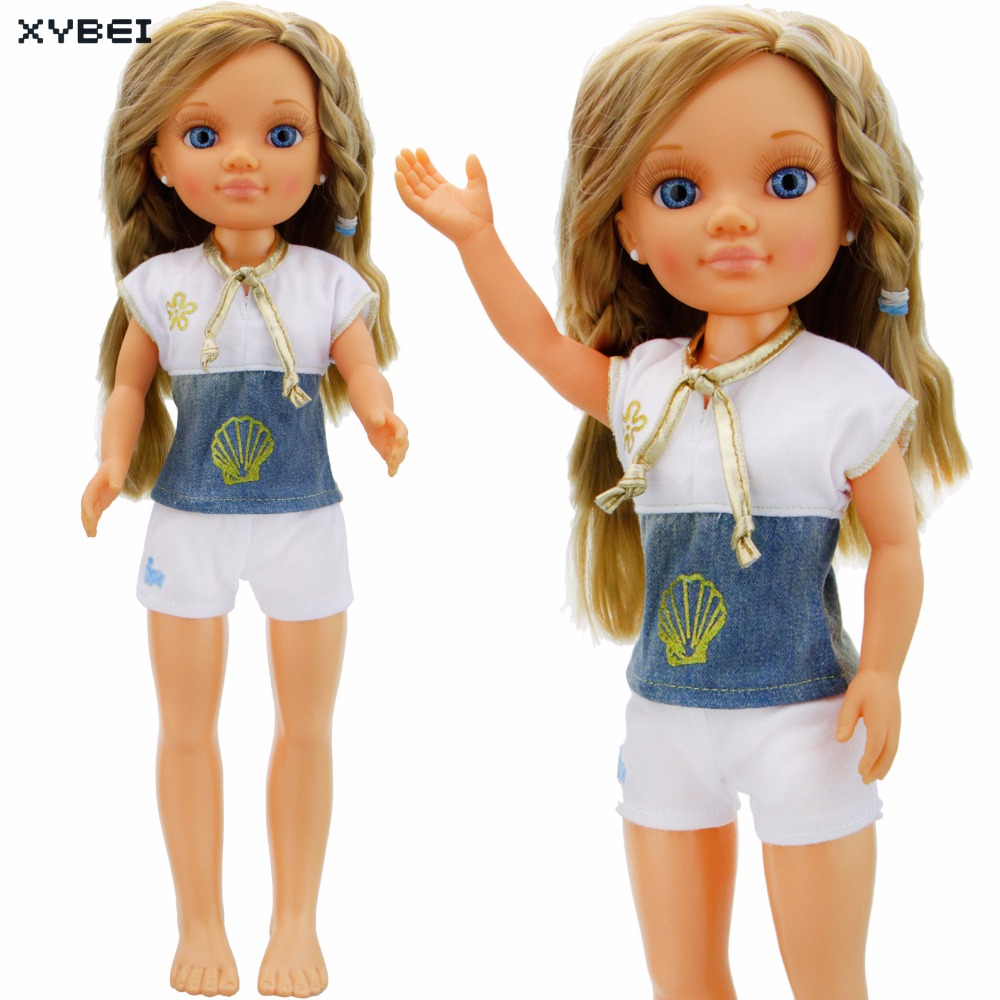 Handmade Sport Outfit Daily Casual Wear Short Sleeves White Pants Lovely Clothes For Nancy Doll Accessories Birthday Gift Toys the daily village perfect canada white skirt turquoise barely there tops wear hollywood miss picture universe panache bikini