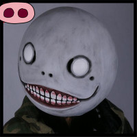 Top Grade Cos Hot Game NieR: Automata Masks Cosplay Emil Mask Helmet 1:1 Latex Halloween Party Cosplay Clown Mask Funny Mask toy