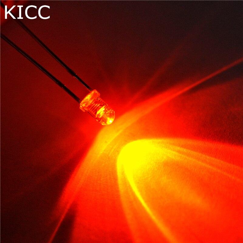 1000* Light Emitting Diode 3MM Orange LED