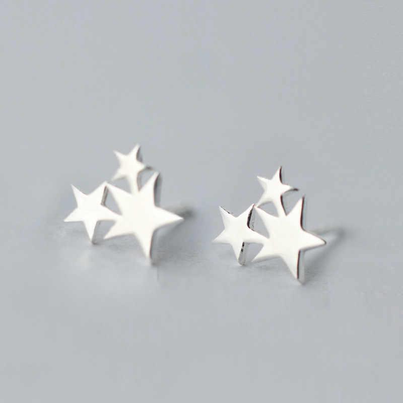 100% 925 boucles d'oreilles étoile en argent Sterling pour femmes cadeaux de bijoux de mariage hypoallergéniques femmes Pendientes Brincos A123