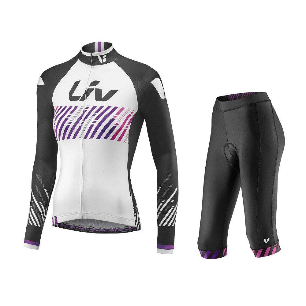 LIV Cycling Jerseys PRO Breathable Women Cycling Pants Bike Bib Pants Jersey Cycling Clothing Mountain Bicycle Jersey Wear Sets