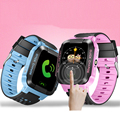 1.44' Touch Screen Smart Safe LBS Tracker Location Finder SOS Call Remote Monitor Flashlight Watch Wristwatch for Kids Student