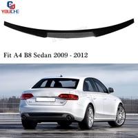 M4 Style Carbon Fiber Material Spoiler Wing for Audi A4 B8 2009 2012 4 door Sedan Trunk Lid Tail Boot Bumper Lip Spoiler
