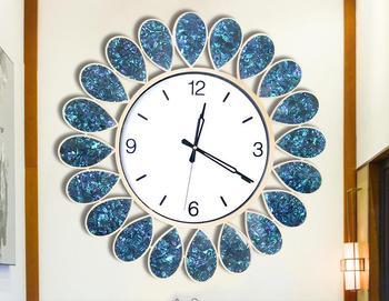 Large Crystal Wall Clock Modern Design Metal Wall Watch Digital Hanging Big Wall Clock For Home Living Room Bedroom Decoration