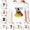 Tatuagem vogue princesa branca de neve imprimir mulheres camiseta de algodão Casual camisa branca Top Tee Big tamanho S-XXXL Hipster BZ-331