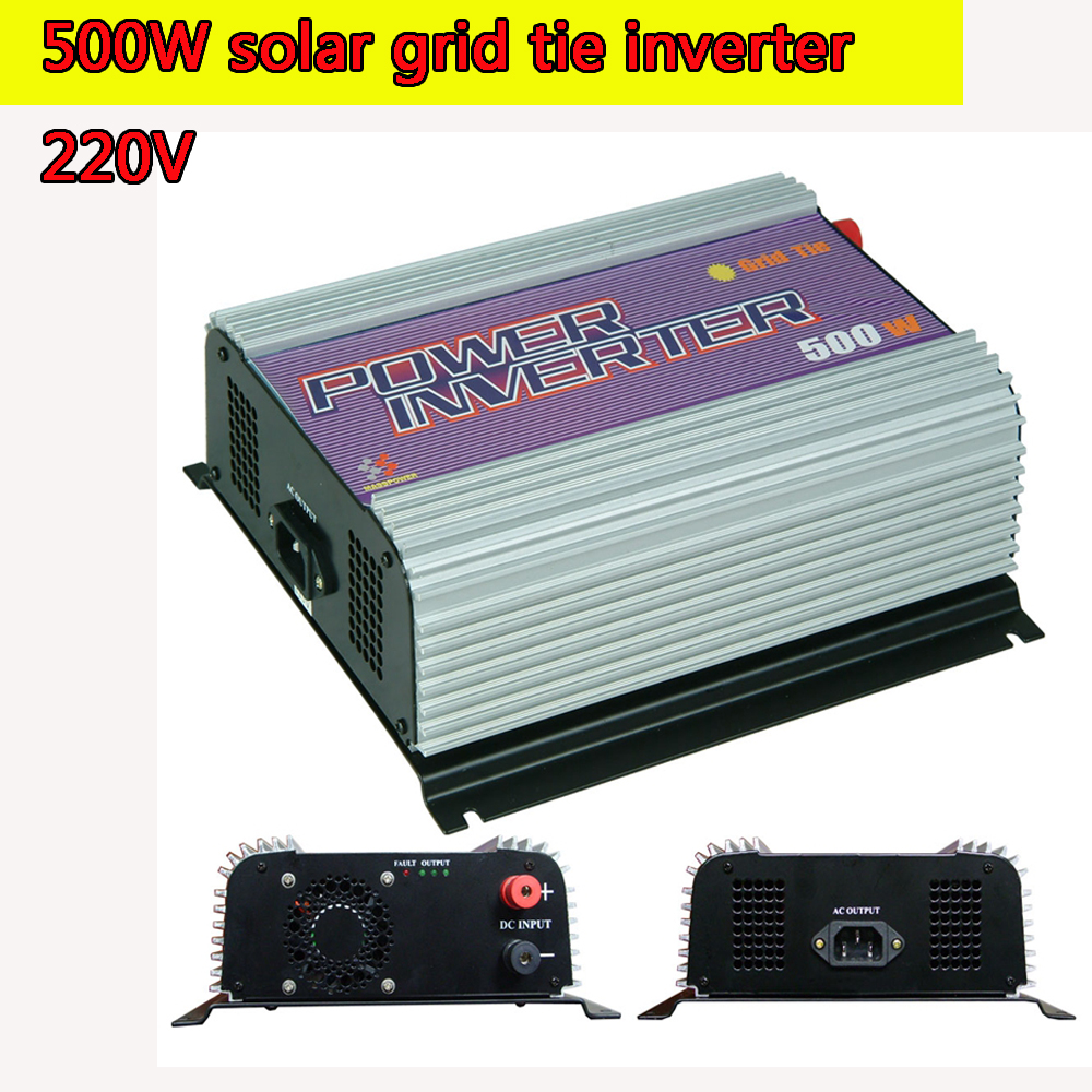 220V Grid Tie Inverter 500W Pure Sine MPPT 10.8V to 30V and  22V to 60V Input  Low Cost and Easy Installation NEW 600w grid tie power inverter lcd 220v pure sine wave dc to ac solar power inverter mppt 10 8v to 30v or 22v to 60v input new