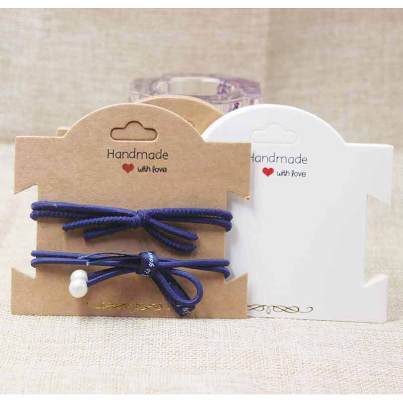 Zerong Gold Foil Jewelry Package Tag Card,DIY Handmade With Love Necklace Folded Card,hair Accessories/bracelet Display Tag Card