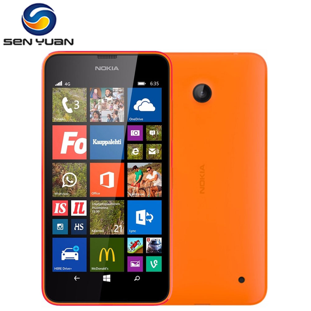 Nokia Lumia 635 Cell-Phone-Windows-Phone 8gb GSM/WCDMA Quad Core 5mp Refurbished 4G LTE