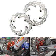 цена на 260/220mm Front Rear Brake Discs Rotors For KTM 125 200 250 300 350 450 500 EXC SX SXF XC XCW XCF 1994-2019 Husqvarna Husaberg