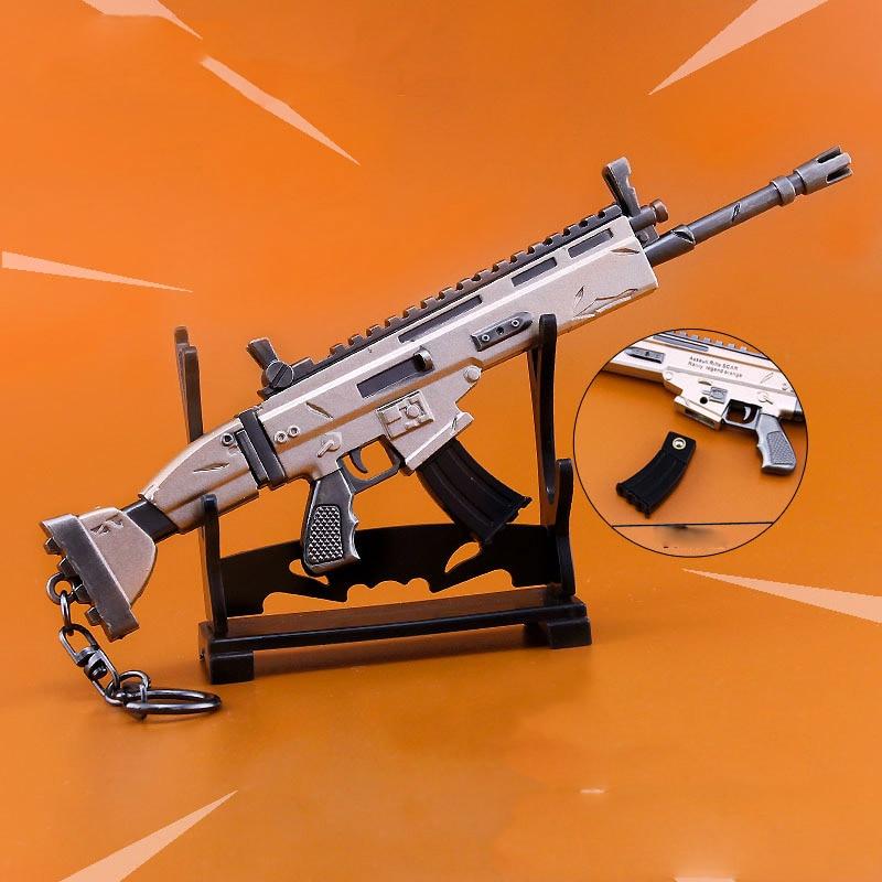 Fort Zinc Alloy weapons Fortnit Metal nite model toy Keychain Gun scar scar-l nit figure scar 77 машина miltilia 1 2