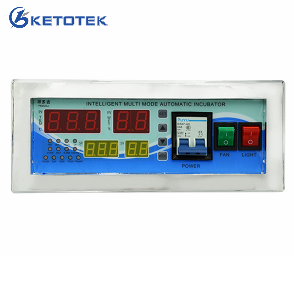 Intelligent Incubator Controller Digital Thermostat Temperature Humidity Controller 0~40.5C with Sensors