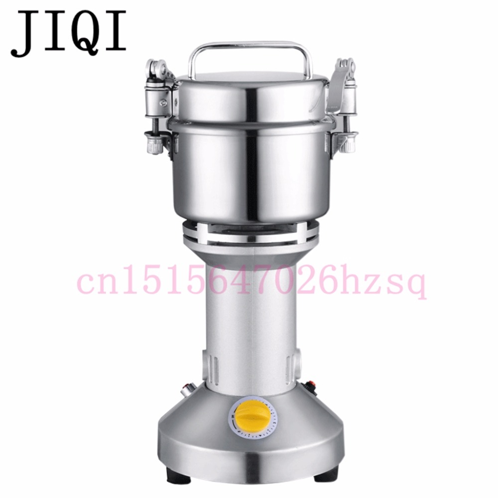 JIQI 300g whole grains mill powder Chinese medicine grinder ultrafine grinding herbs superfine pulverizer EU US 110V/220V high quality 300g swing type stainless steel electric medicine grinder powder machine ultrafine grinding mill machine
