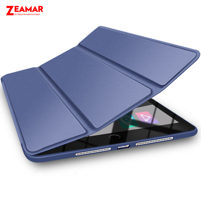 new arrivals 6f1b9 bd551 US $9.42 27% OFF|Case For Samsung Galaxy Tab S4 2018 10.5 inch SM T830 T835  Leather Smart Magnetic Trifold Stand Cover For Samsung Galaxy S4 10.5-in ...