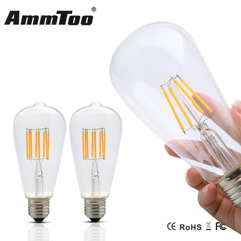 Dimmable ST64 Vintage Edison ampoule Led Filament ampoule E27 4 W 6 W 8 W 220 V 120 V 110 V remplacer incandescente de 60 W 80 W 100 W lampeDimmable ST64 Vintage Edison ampoule Led Filament ampoule E27 4 W 6 W 8 W 220 V 120 V 110 V remplacer incandescente de 60 W 80 W 100 W lampe