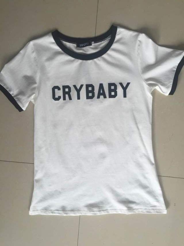 HTB1GSHYMVXXXXaSaXXXq6xXFXXXN - Crybaby Ringer Women T shirt PTC 08