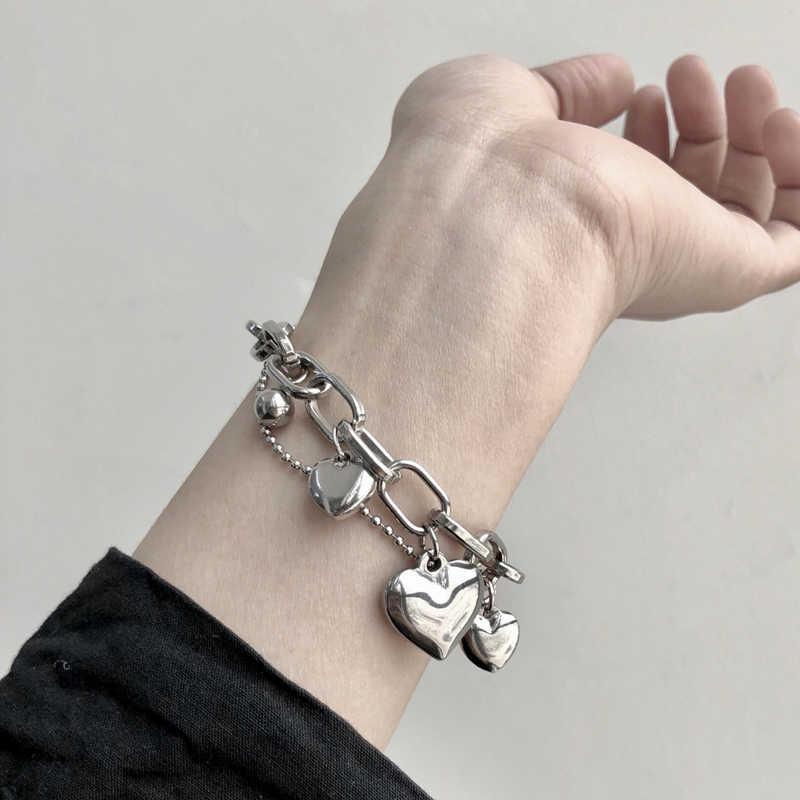 """Браслет в стиле """"панк""""/пара/женщины/панк/homme/bileklik/femme/pulsera женский браслет pulsera hombre для женщин мужские браслеты 2019"""